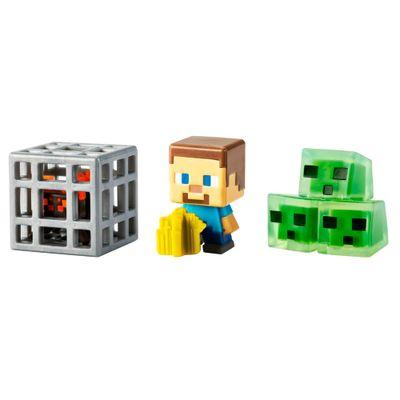 Figuras-Minecraft---Pack-com-3---Blocos-de-Slime---Esteve-Jardineiro---Aranha---Mattel
