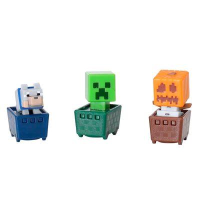 Figuras-Minecraft---Pack-com-3---Golem-de-Neve---Crepper---Lobo---Mattel