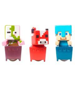 Figuras-Minecraft---Pack-com-3---Porco-Zumbi---Steve-de-diamante---Cogumelo---Mattel