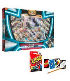 Kit-de-Jogos---Pokemon---Box-Lucario-GX-e-UNO---Copag