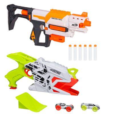 Kit-Lancadores-Nerf---Nerf-Modulus-Recon-MKII-Blaster-e-Nerf-Nitro---Aerofury-Ramp-Rage---Hasbro