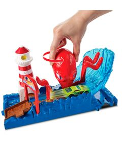 Pista-Hot-Wheels---City-Octopus-Pier-Attack---Mattel