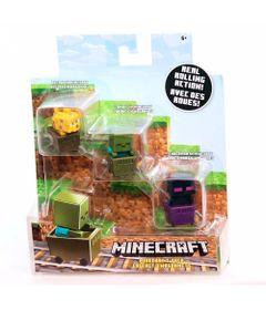 Figuras-Minecraft---Pack-com-3---Jaguatirica---Zumbi---Enderman---Mattel