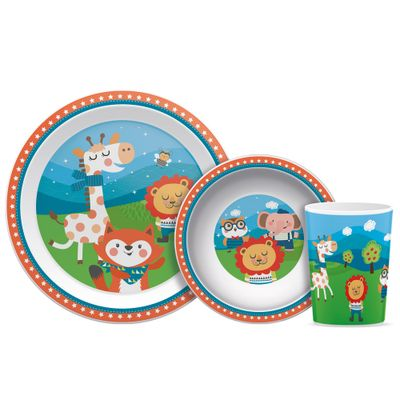 Kit-Refeicao-Infantil---Happy-Friends---3-Pcs---Buba