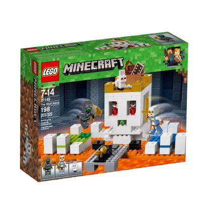LEGO-Minecraft---A-Arena-da-Caveira---21145----frente