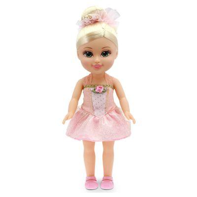 Boneca-Articulada---Funville-Sparkle-Girlz---BailarinaLoira---Vestido-Rosa-e-Amarelo