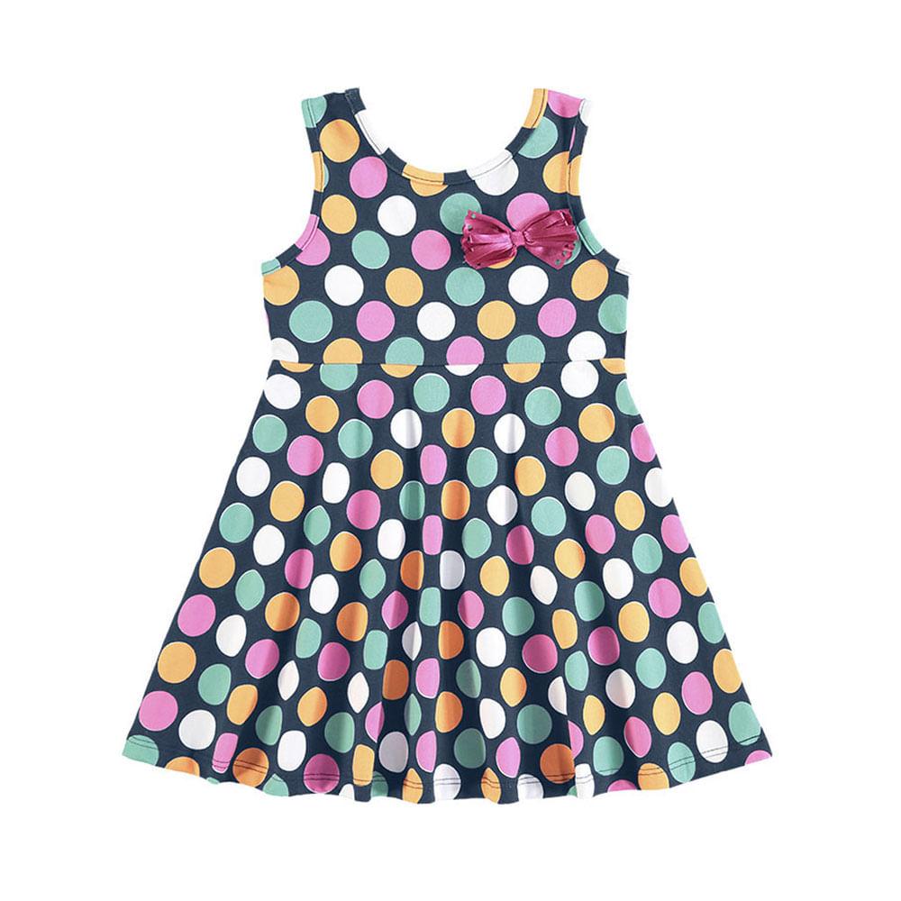 Vestido Infantil - Regata com Bolinhas - Kyly
