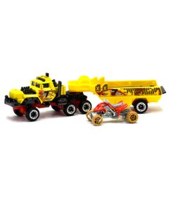 Caminhao-Transportador-Hot-Wheels---Haulin-Horsepower---Amarelo---Mattel