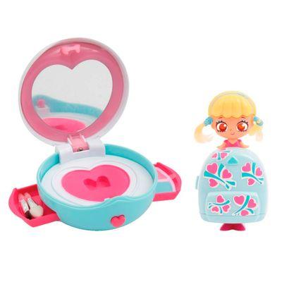 Mini-Boneca-e-Bolsinha-Make-Up---Kekilou---K-vanity---Azul-Claro-e-Coracao---Candide