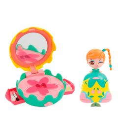 Mini-Boneca-e-Bolsinha-Make-Up---Kekilou---K-vanity---Verde-e-Amarelo---Candide