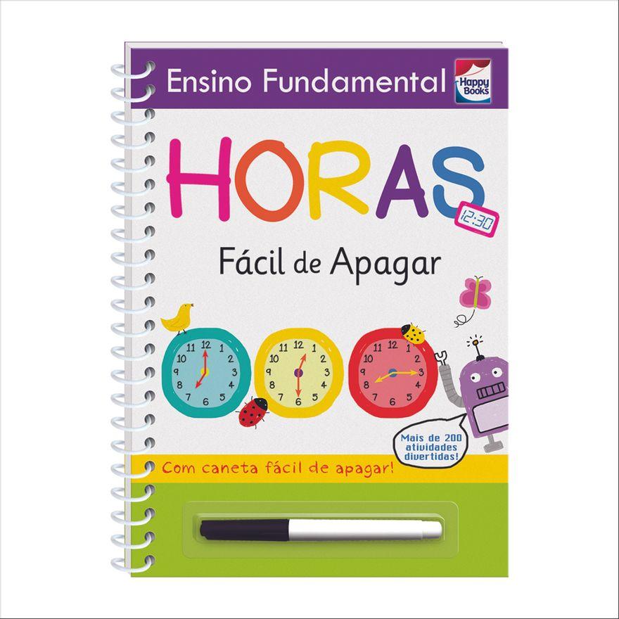 Livro---Ensino-Fundamental---Facil-de-Apagar---Horas---Happy-Books