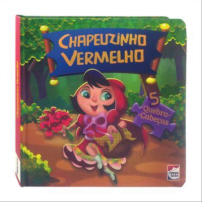 Livro---Classicos-em-Quebra-Cabecas---Disney---Chapeuzinho-Vermelho---Happy-Books