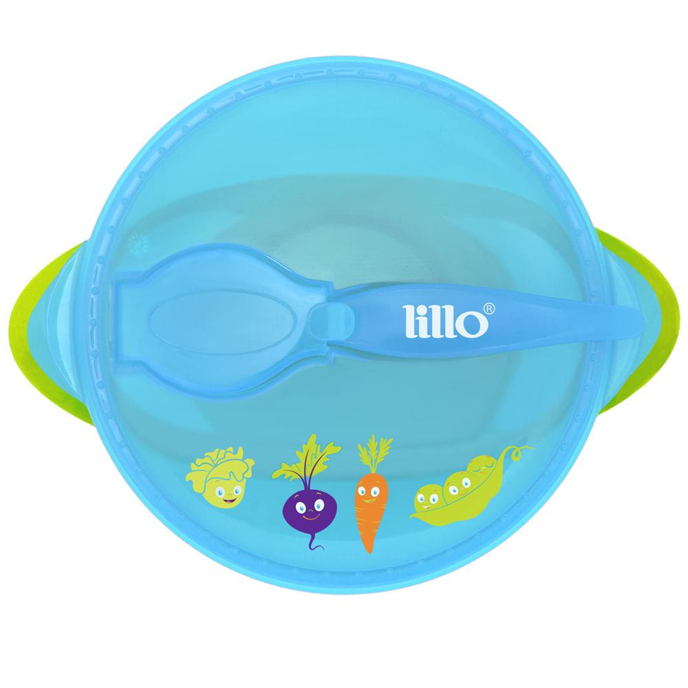 Prato com Ventosa Design Azul - Legumes - Lillo