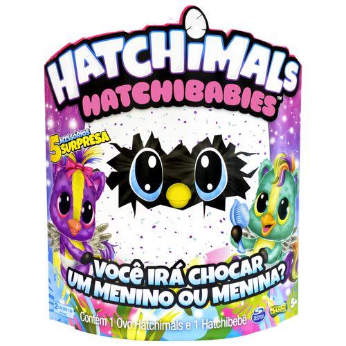 Mini Figura Surpresa - Hatchimals Hatchibabies - Ponette - Sunny
