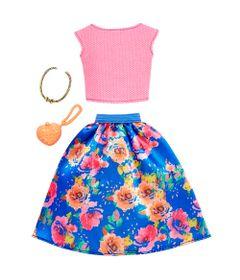 Roupinha-e-Acessorios---Barbie---Blusinha-Rosa-e-Saia-Floral---Mattel