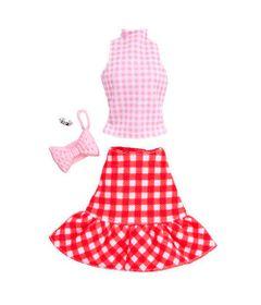 Roupinha-e-Acessorios---Barbie---Saia-e-Blusinha-Rosa---Mattel