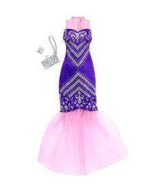 Roupinha-e-Acessorios---Barbie---Vestido-Roxo---Mattel
