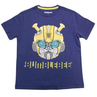 Camiseta-Manga-Curta---Transformers---Bumblebee---Robot---Azul---P