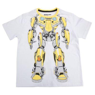 Camiseta-Manga-Curta---Transformers---Bumblebee---Robot---Branca---M