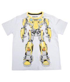 Camiseta-Manga-Curta---Transformers---Bumblebee---Robot---Branca---P
