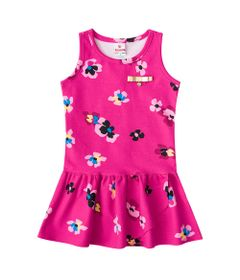 Vestido---Meia-Malha---Flores---Rosa-Fucsia---Brandili---1