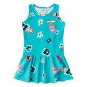 Vestido---Meia-Malha---Flores---Verde-Coral---Brandili---1