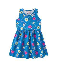 Vestido---Meia-Malha---Florido---Azul-Cobalto---Brandili---1