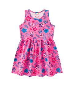 Vestido---Meia-Malha---Florido---Rosa-Sorvete---Brandili---1
