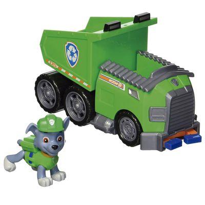 Boneco-Com-Veiculo---Patrulha-Canina---Rocky-s-Recycling-Dumptruck---Sunny