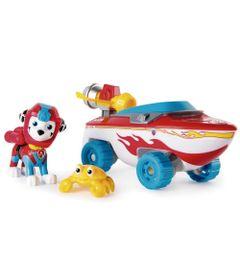Veiculo-e-Figura---Patrulha-Canina---Marshall---Sea-Patrol-Vehicle---Vermelho-e-Azul---Sunny