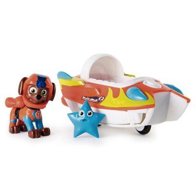 Veiculo-e-Figura---Patrulha-Canina---Zuma---Sea-Patrol-Vehicle---Laranja-e-Branco---Sunny