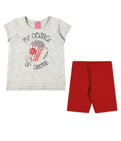 Conjuntinho-Infantil---Regata-Estampada-e-Bermuda---Pop-Corn---Mescla-Vermelha---Kamylus---1