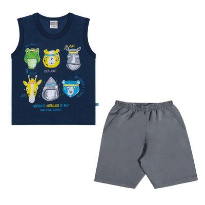 Conjuntinho-Infantil---Regata-Estampada-e-Shorts---Animais---Marinho---Kamylus---1