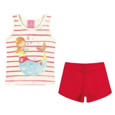 Conjuntinho-Infantil---Regata-Estampada-e-Shorts---Sereia---Off-White---Kamylus---P
