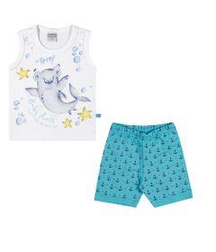 Conjuntinho-Infantil---Regata-Estampada-e-Shorts---Tubarao---Branco---Kamylus---P