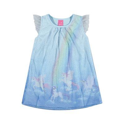 Vestido-Infantil---Jacquard---Unicornio---Azul---Kamylus---1