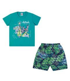 Conjuntinho-Infantil---Camiseta-e-Bermuda-Estampada---Australia---Verde---Kamylus---1