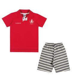 Conjuntinho-Infantil---Camiseta-Polo-e-Shorts-Listrado---Thibum---Vermelho---Kamylus---1