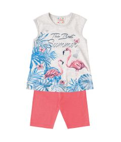 Conjuntinho-Infantil---Blusa-Estampada-e-Bermuda----Branco-e-Salmao---Flamingos---Brandili---1