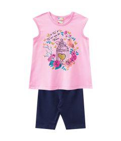 Conjuntinho-Infantil---Meia-Malha---Blusa-Estampada-e-Shorts---Rosa-e-Azul---Brandili---1