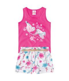 Conjuntinho-Infantil---Regata-Estampada-e-Bermuda---Rosa-e-Branca---Flores---Brandili---1