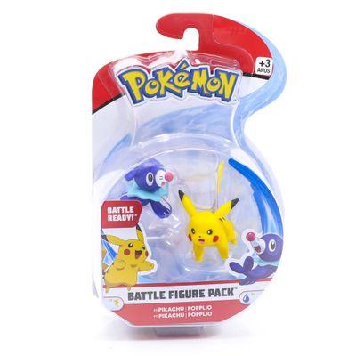 Figura-Articulada---Pokemon---7-Cm---Battle-Figure---Pikachu-e-Poplio---DTC