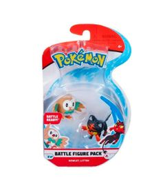 Figura-Articulada---Pokemon---7-Cm---Battle-Figure---Rowlet-e-Litten---DTC