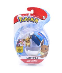 Mini-Figura-Pokemon-e-Pokebola-Com-Clip---Eevee-e-Super-Ball---DTC