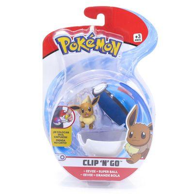 Mini-Figura-Pokemon-e-Pokebola-Com-Clip---Eevee-e-Super-Ball---DTC