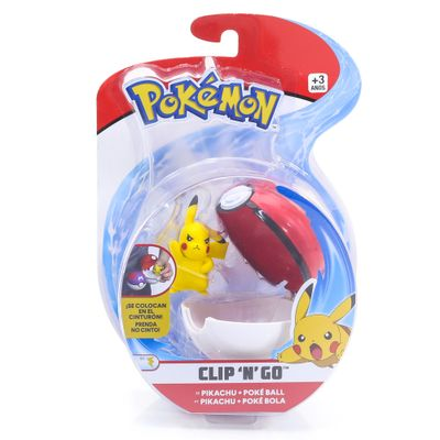 Mini-Figura-Pokemon-e-Pokebola-Com-Clip---Pikachu-e-Poke-Ball---DTC