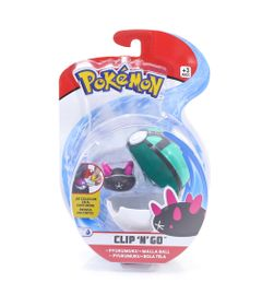 Mini-Figura-Pokemon-e-Pokebola-Com-Clip---Pyukumuku-e-Malla-Ball---DTC