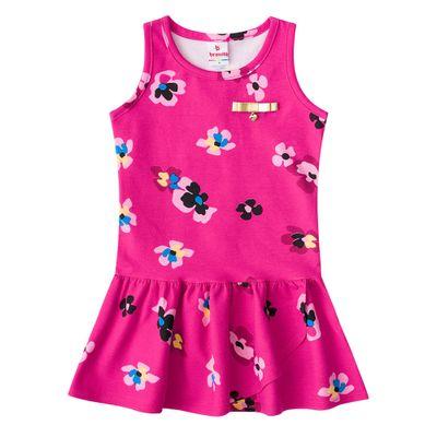 Vestido-Infantil---Cotton---Flores---Pink---Brandili---1