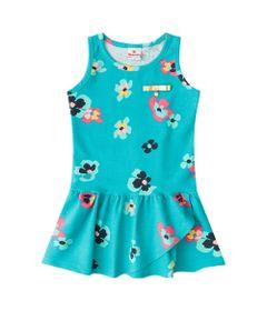 Vestido-Infantil---Cotton---Flores---Verde---Brandili---1