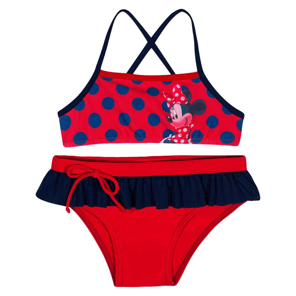 Biquíni Infantil - Disney - Minnie Mouse - Vermelho - Tip Top